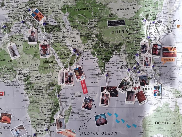 travel map of memories