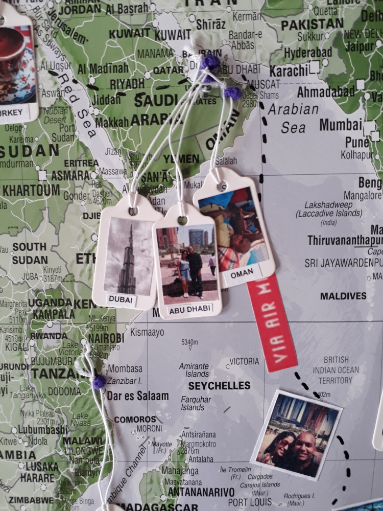travel map of memories