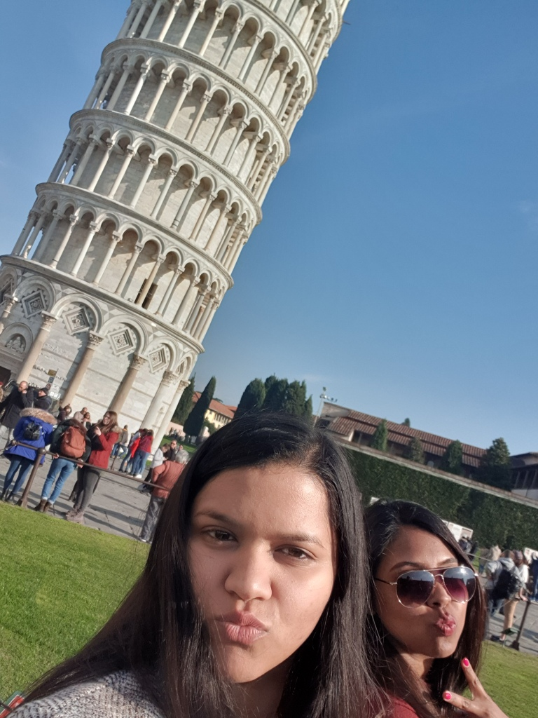 Leaning tower of Pisa, Italy, tourist