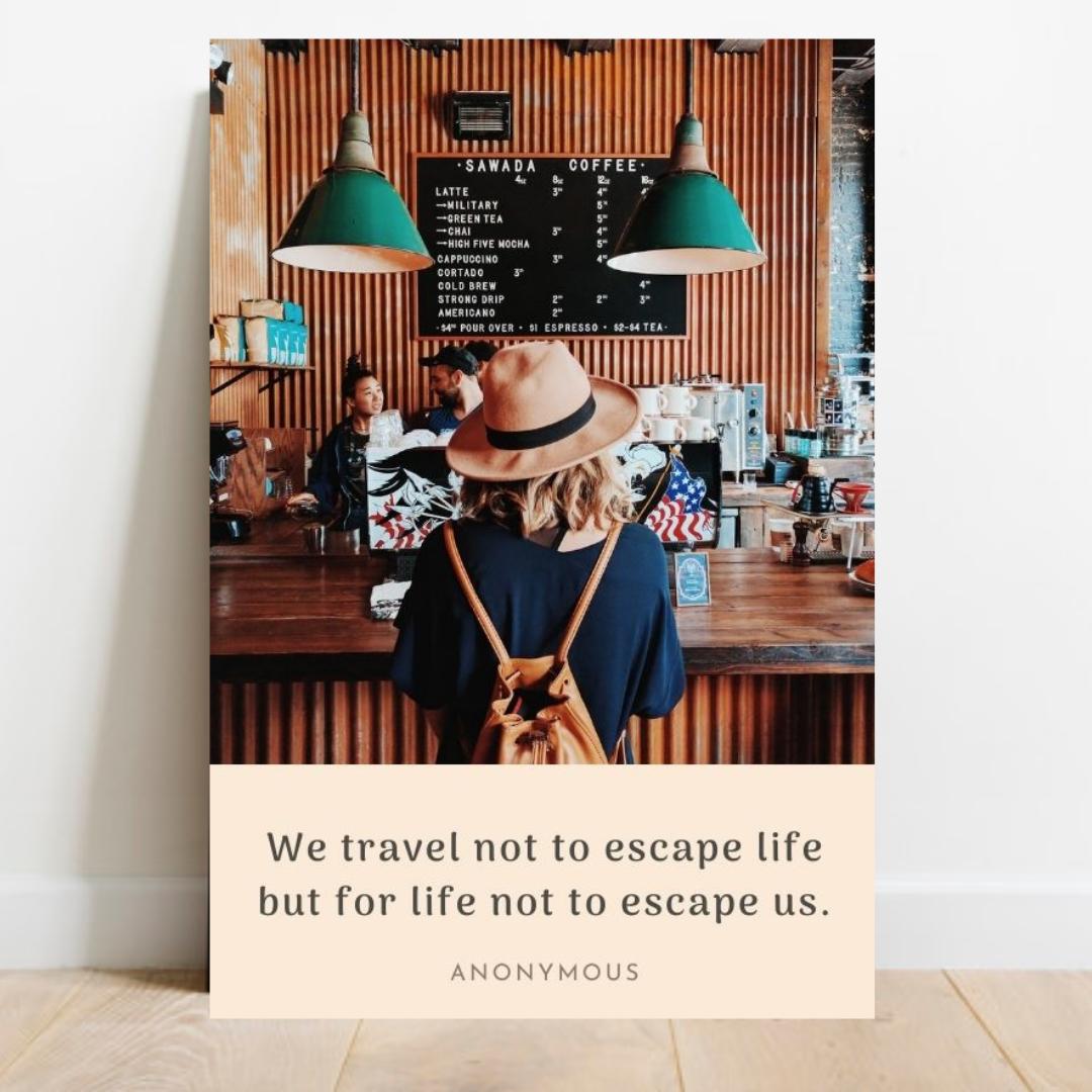 travel quotes, digital prints, travel poster